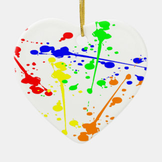 Paint splash abstract art colourful ceramic ornament