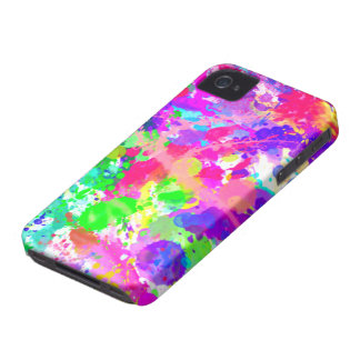 Paint splash colourful iPhone 4 Case-Mate case