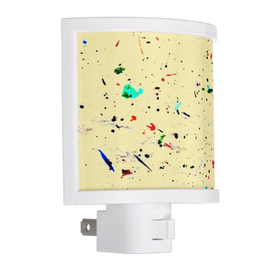 Paint Splashes and Spots Abstract Art Nite Lights