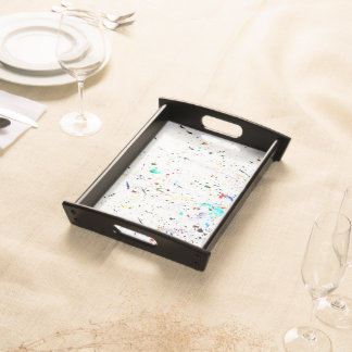 Paint Splashes and Spots Abstract Art Serving Tray