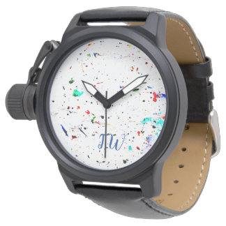 Paint Splashes and Spots Abstract Art Watch