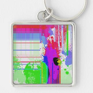 Paint splashes keychain