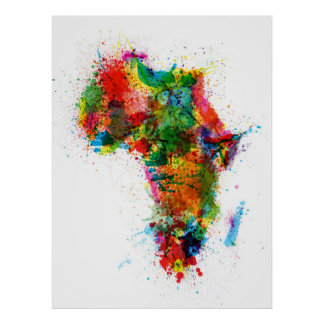 African Map Posters Zazzle Canada