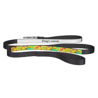 Paint splashes on a yellow background pet leash