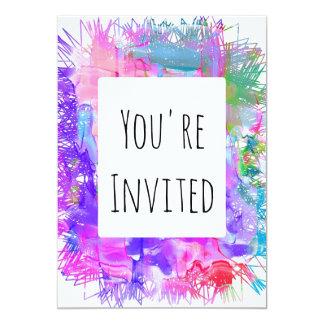 paint splat watercolor color invite party