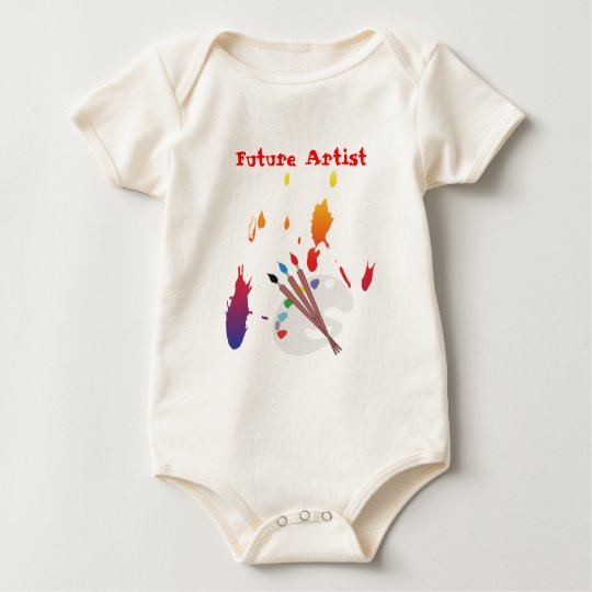 paint splater, future artist copy, Future Artist Baby Bodysuit