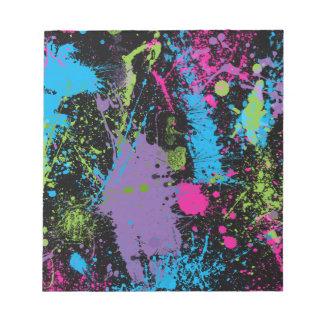 Paint Splater Notepad