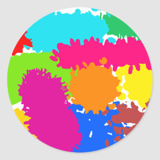 Paint Splats Classic Round Sticker