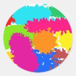 Paint Splats Round Sticker