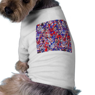 Paint Splatter Abstract Art Doggie Shirt