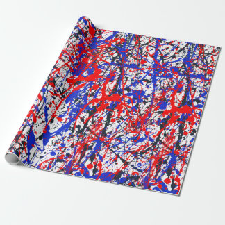 Paint Splatter Abstract Art Wrapping Paper