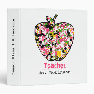 Paint Splatter Apple Teacher Lesson Plans Binder