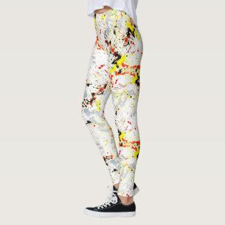 Paint Splatter Background Leggings