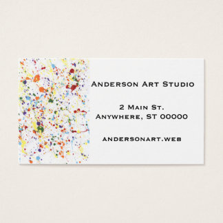 """Paint Splatter"" Business Cards"