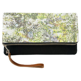 Paint Splatter Clutch Bag