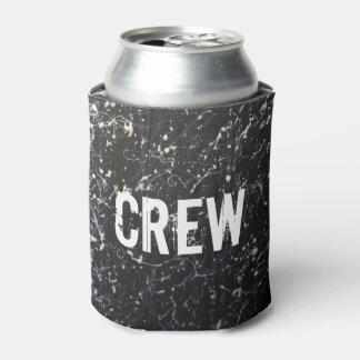 Paint Splatter CREW | Charcoal and White Can Cooler