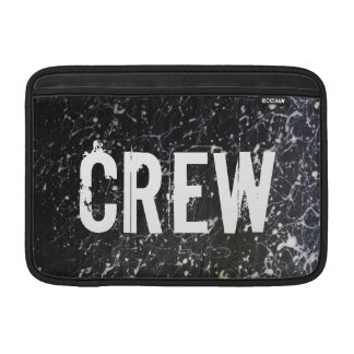 Paint Splatter CREW | Charcoal and White MacBook Air Sleeves