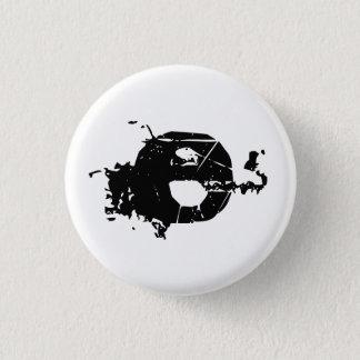 Paint splatter E 1 Inch Round Button