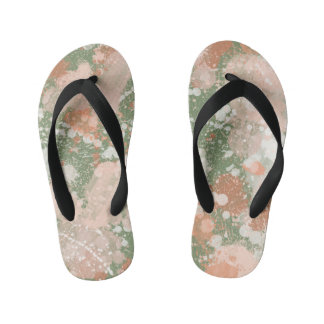 Paint Splatter Effect Kids Flip Flops