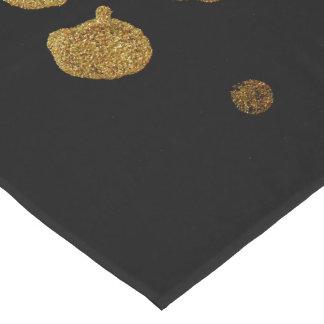 Paint Splatter in Faux Gold and Black Short Table Runner