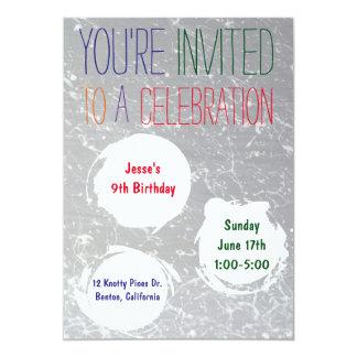 Paint Splatter Invite | Colourful Kids Party