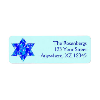 Paint Splatter Jewish Star Return Address Label