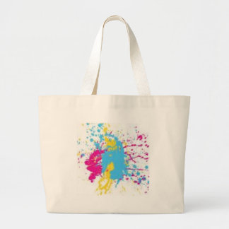paint splatter large tote bag