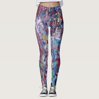 Paint splatter leggings