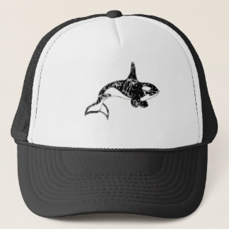 Paint Splatter Orca Art Trucker Hat