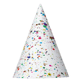 Paint Splatter Party Hat