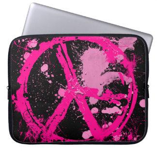 Paint Splatter Peace Sign Laptop Sleeve