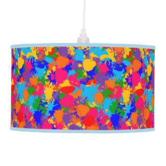 Paint splatter pendant lamp