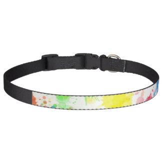 Paint Splatter Pet Collar