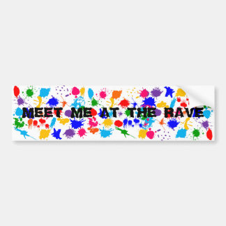 Paint Splatter Raver Bumper Sticker