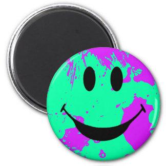 Paint Splatter Smiley Face Magnet