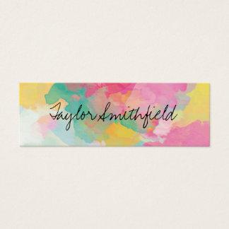 paint splatter splash modern trendy business card