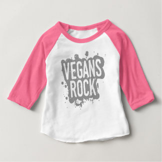 Paint Splatter VEGANS ROCK (gry) Baby T-Shirt