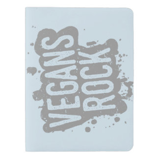 Paint Splatter VEGANS ROCK (gry) Extra Large Moleskine Notebook