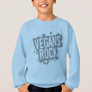 Paint Splatter VEGANS ROCK (gry) Sweatshirt