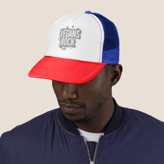 Paint Splatter VEGANS ROCK (gry) Trucker Hat