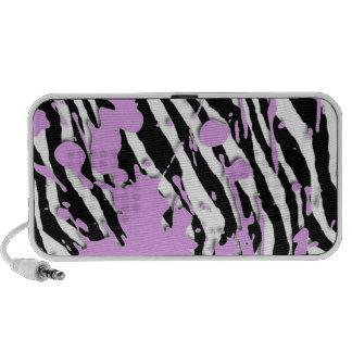 Paint Splatter - Zebra PC Speakers