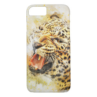 Paint splattered leopard Iphone 8/7 cover