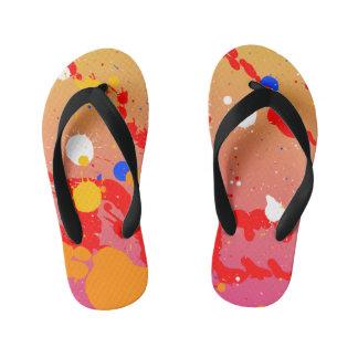 Paint Splatters Flip Flops