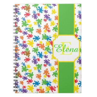 Paint Splotches Notebook