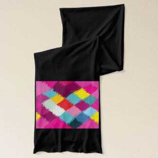 Paint strokes abstract design scarf wraps