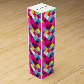 Paint strokes abstract design wine gift box