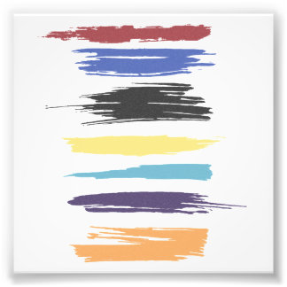Paint Strokes Artistic Abstract Color (distressed) Photo Art