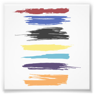 Paint Strokes Artistic Abstract Color Streaks Photo Print