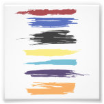 Paint Strokes Artistic Abstract Colour Streaks Photo Print
