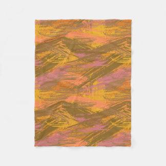 Paint Strokes Autumn Hues Fleece Blanket